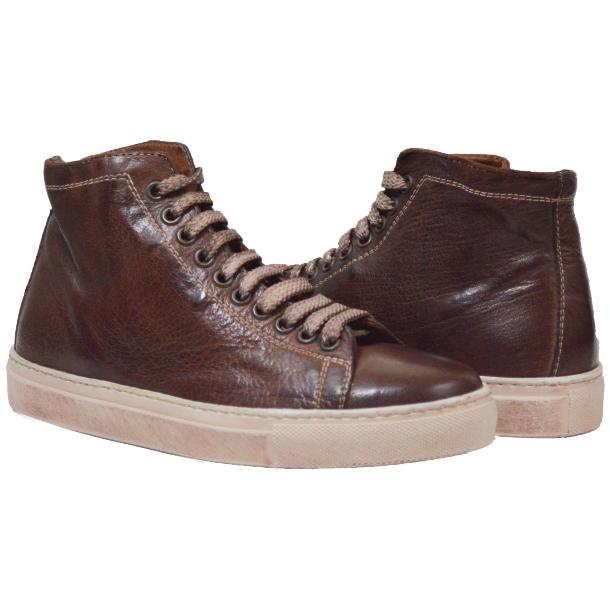 Heidi Dip Dyed Brown High Top Sneaker  thumb #1