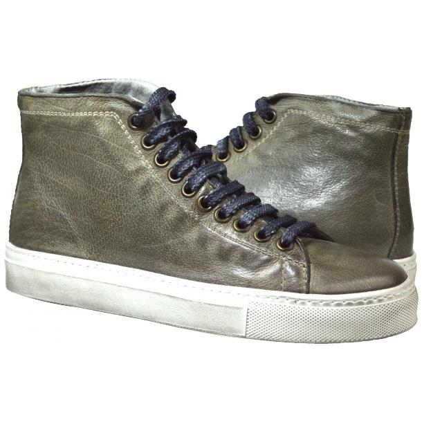 Alara Dip Dyed Stone Grey High Top Sneaker  thumb #1