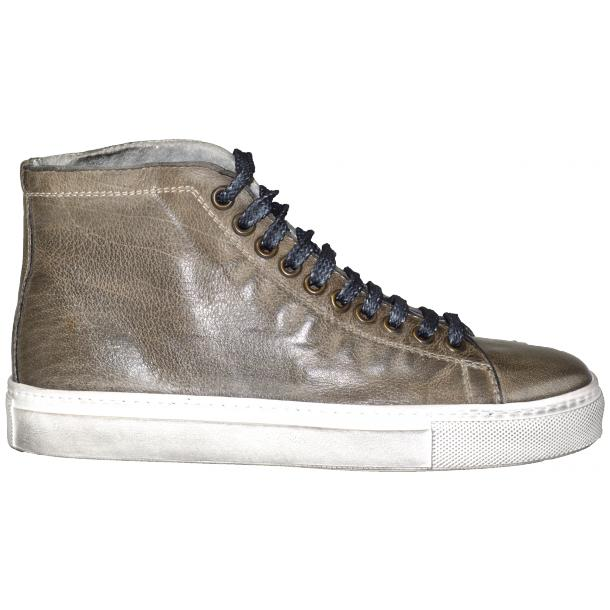 Alara Dip Dyed Stone Grey High Top Sneaker  thumb #3