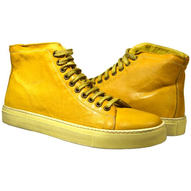 Heidi Dip Dyed Yellow High Top Sneaker  full-size #1