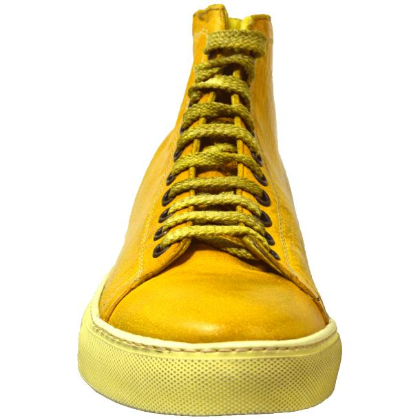 Heidi Dip Dyed Yellow High Top Sneaker  full-size #2