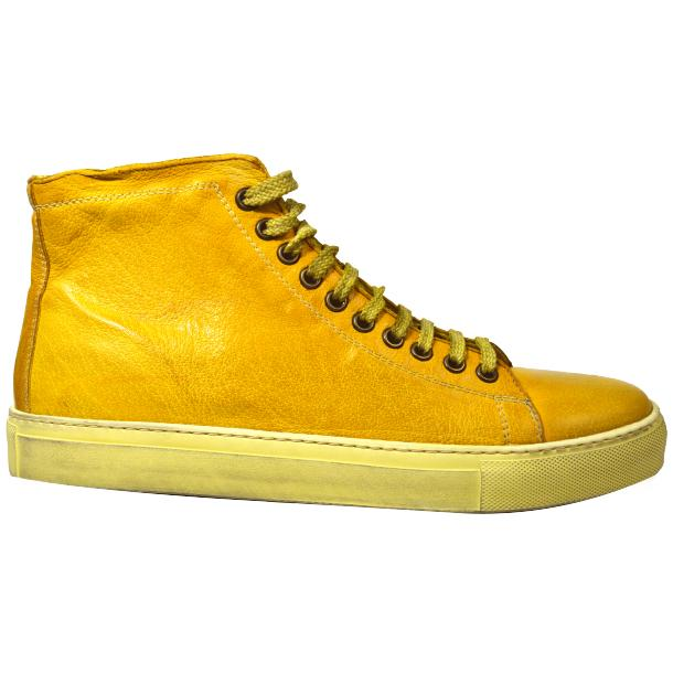 Heidi Dip Dyed Yellow High Top Sneaker  full-size #3