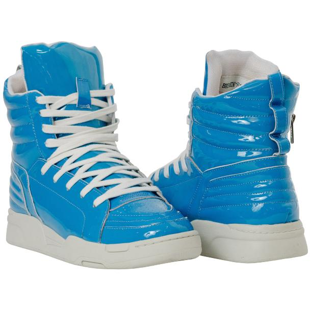 Breakin' Royal Blue Patent Leather High Top Sneakers full-size #1