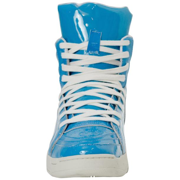 Breakin' Royal Blue Patent Leather High Top Sneakers thumb #3