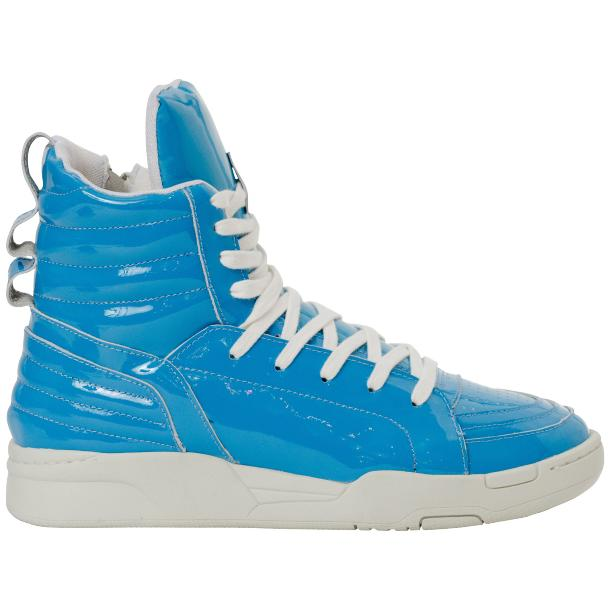 Breakin' Royal Blue Patent Leather High Top Sneakers thumb #4