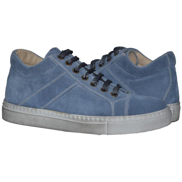 Hannah Suede Blue Dip Dyed Sneakers full-size #1
