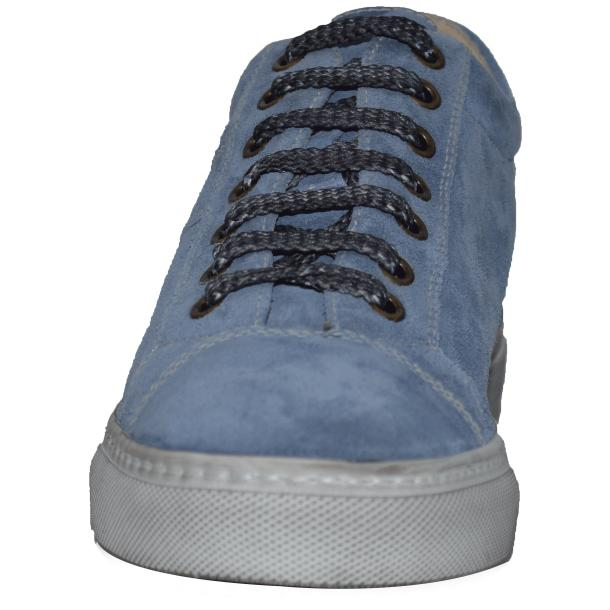 Hannah Suede Blue Dip Dyed Sneakers full-size #2
