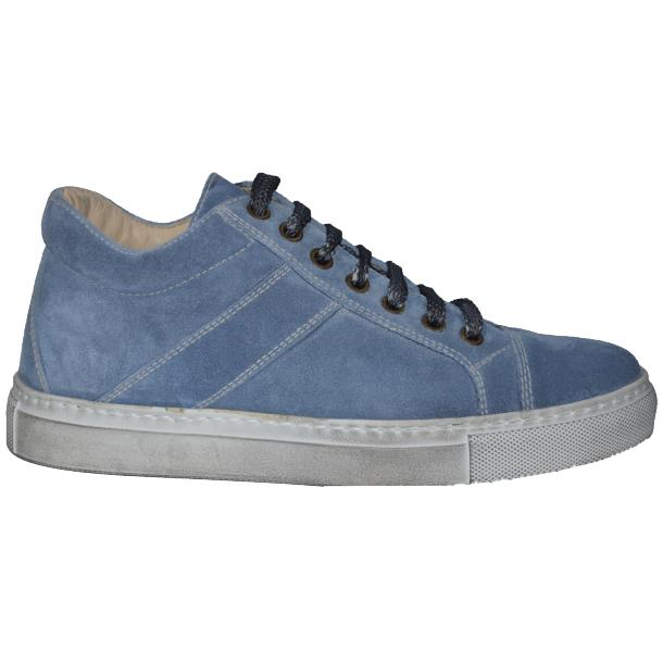 Hannah Suede Blue Dip Dyed Sneakers full-size #3