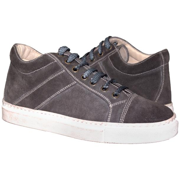 Hannah Suede Grey Dip Dyed Sneakers full-size #1