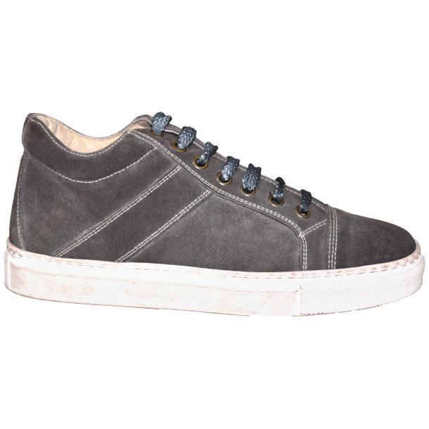 Hannah Suede Grey Dip Dyed Sneakers full-size #3