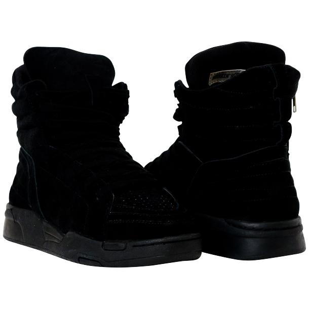 Breakin' Royal Black Suede High Top Sneakers full-size #1