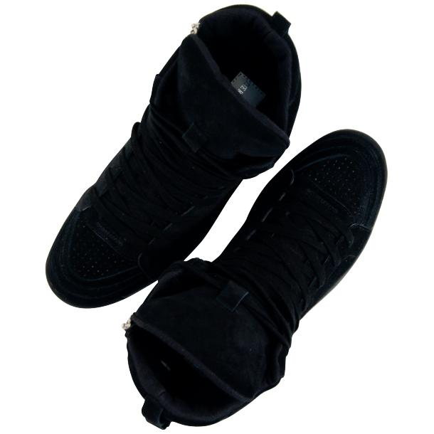 Breakin' Royal Black Suede High Top Sneakers thumb #2