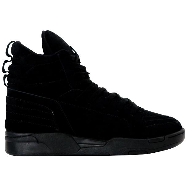Breakin' Royal Black Suede High Top Sneakers full-size #4