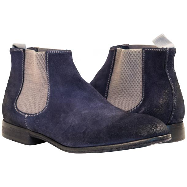 Julie Dip Dyed Blue Suede Chelsea Boots full-size #1