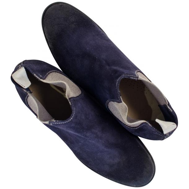 Julie Dip Dyed Blue Suede Chelsea Boots full-size #2