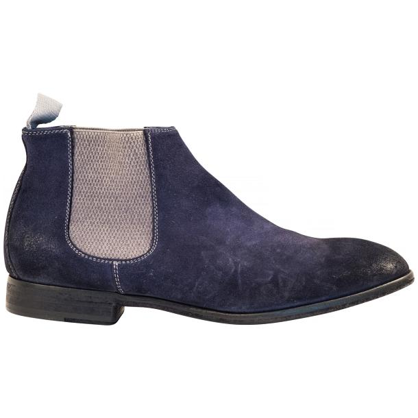 Julie Dip Dyed Blue Suede Chelsea Boots full-size #4