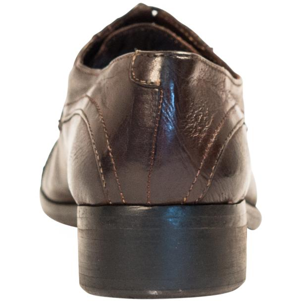 Cindy Dip Dyed Dark Brown Leather Oxford Shoes thumb #5
