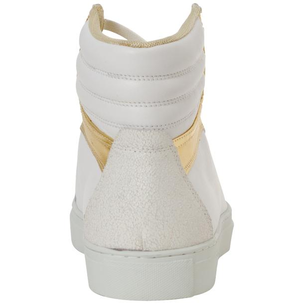 Dante White Two Tone Nappa Leather High Top Sneakers thumb #5