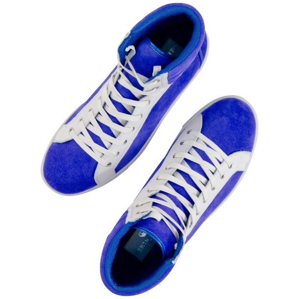 Dante Royal Blue Two Tone Suede High Top Sneakers thumb #2