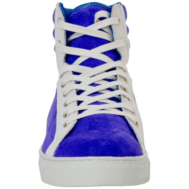 Dante Royal Blue Two Tone Suede High Top Sneakers thumb #3