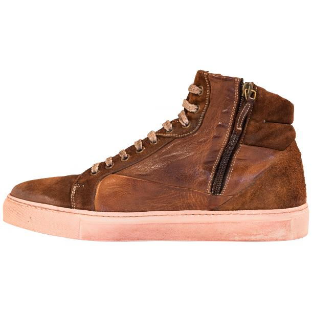 Angelique Brown Leather and Suede High Top Sneaker thumb #6