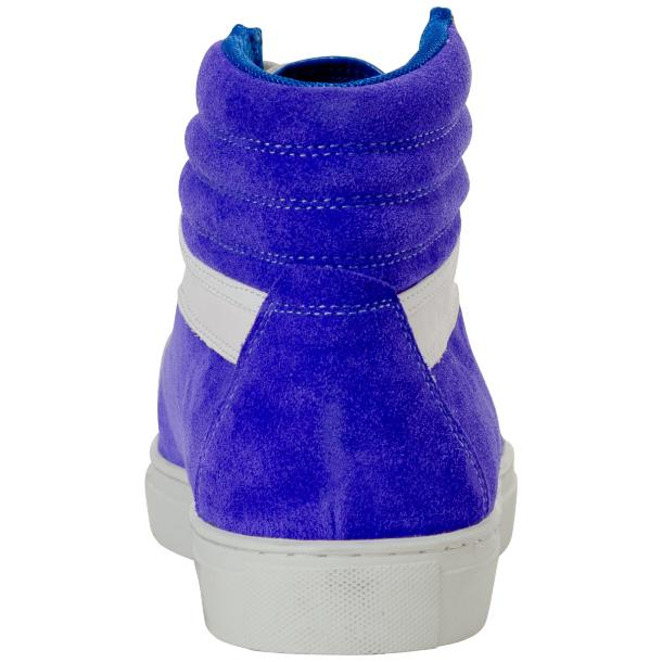 Dante Royal Blue Two Tone Suede High Top Sneakers thumb #5