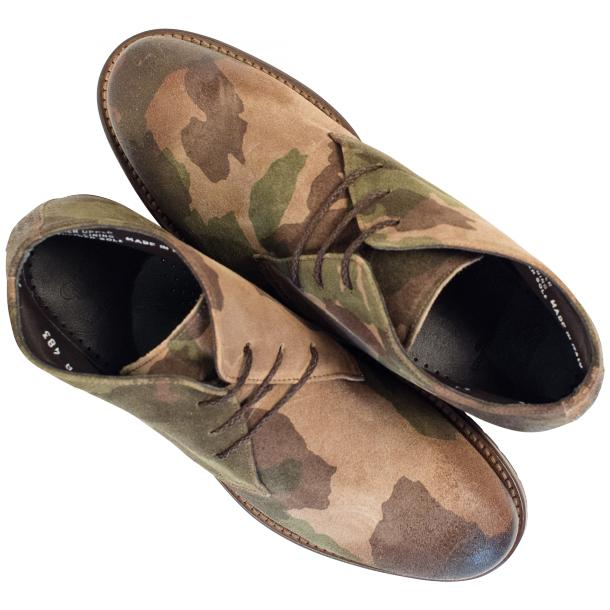"Brenda Camouflage ""Hunting"" Suede Desert Chukka Boots thumb #2"