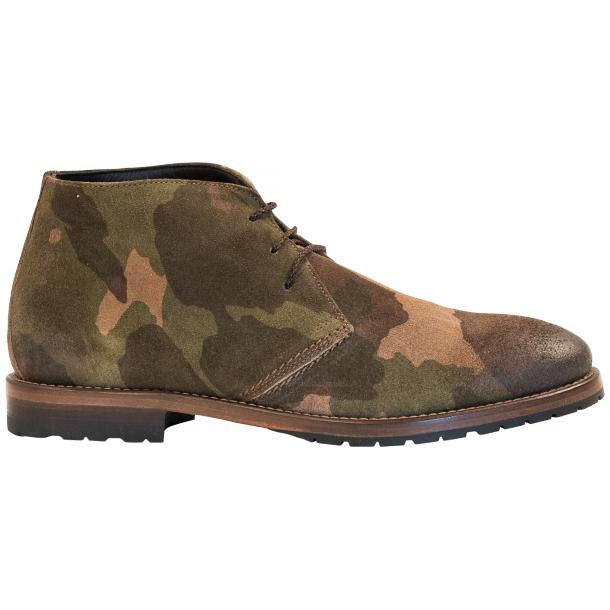 "Brenda Camouflage ""Hunting"" Suede Desert Chukka Boots thumb #4"