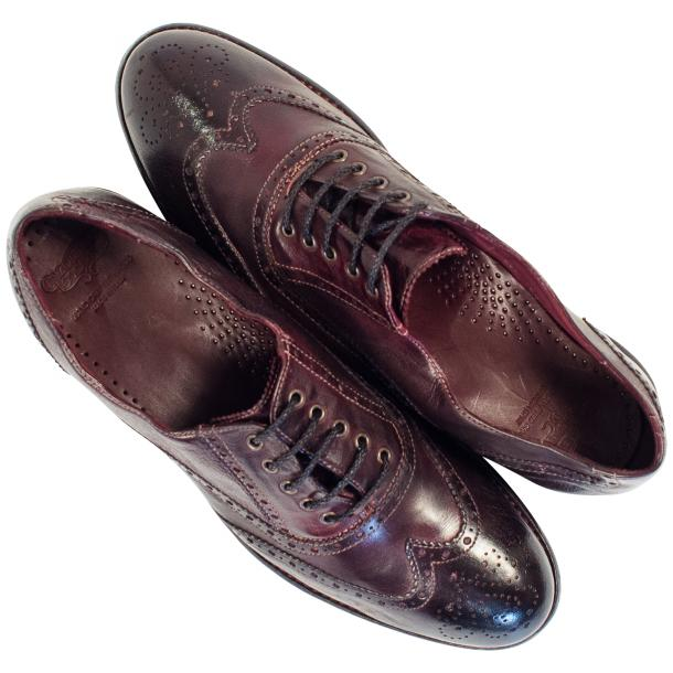 "Desiree Dip Dyed ""Oxblood""Leather Wingtip Lace Up Oxfords thumb #2"