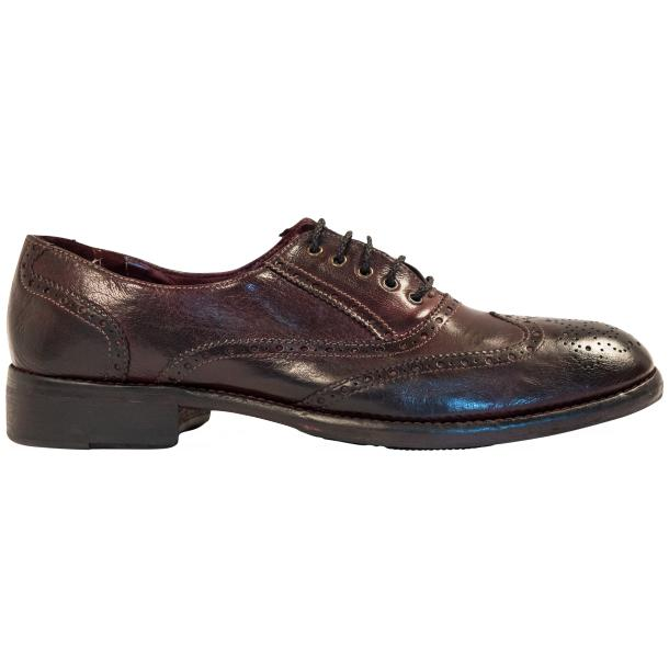 "Desiree Dip Dyed ""Oxblood""Leather Wingtip Lace Up Oxfords thumb #4"
