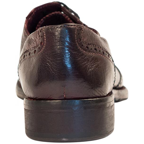 "Desiree Dip Dyed ""Oxblood""Leather Wingtip Lace Up Oxfords thumb #5"