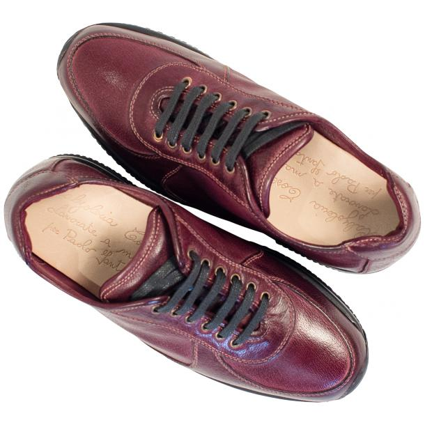 Misha Burgundy Nappa Leather Rubber Sole Sneaker Shoes full-size #2