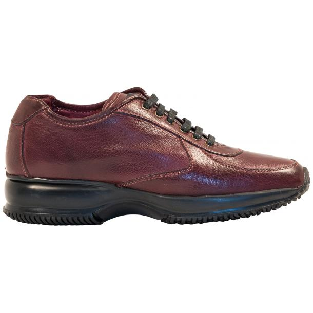 Misha Burgundy Nappa Leather Rubber Sole Sneaker Shoes full-size #4