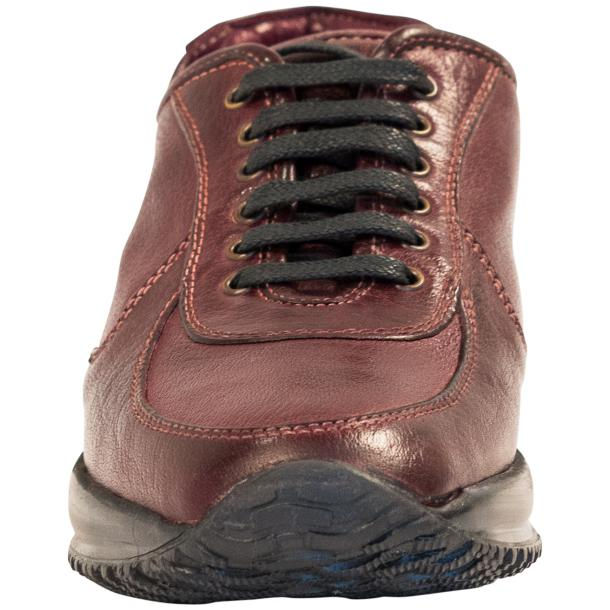 Misha Burgundy Nappa Leather Rubber Sole Sneaker Shoes full-size #3