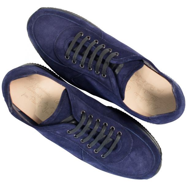 Pressley Blue Disco Suede Rubber Sole Sneaker Shoes thumb #2