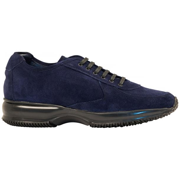 Pressley Blue Disco Suede Rubber Sole Sneaker Shoes thumb #4