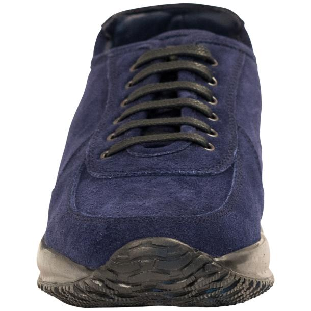 Pressley Blue Disco Suede Rubber Sole Sneaker Shoes thumb #3