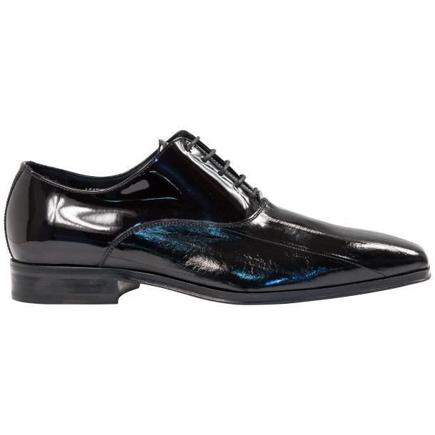 Devin Black Eel Skin Patent Leather Lace-Up Dress Shoes thumb #4