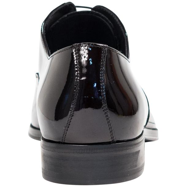 Devin Black Eel Skin Patent Leather Lace-Up Dress Shoes thumb #5