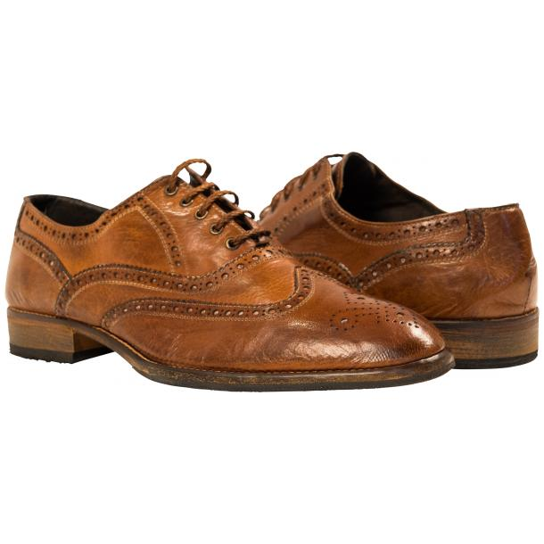 Mateo Dip Dyed Mahogany Nappa Leather Oxfords thumb #1