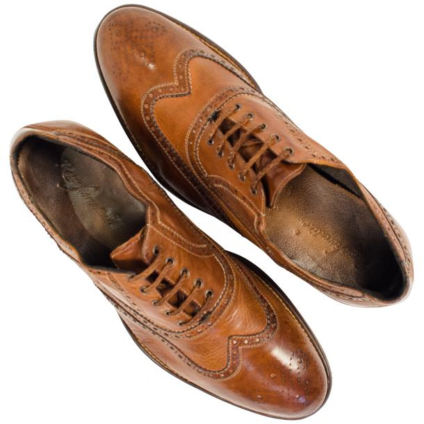 Mateo Dip Dyed Mahogany Nappa Leather Oxfords thumb #2