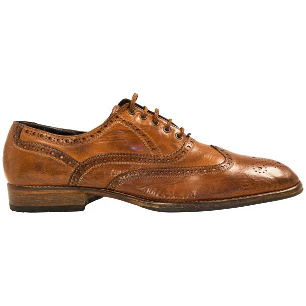 Mateo Dip Dyed Mahogany Nappa Leather Oxfords thumb #4