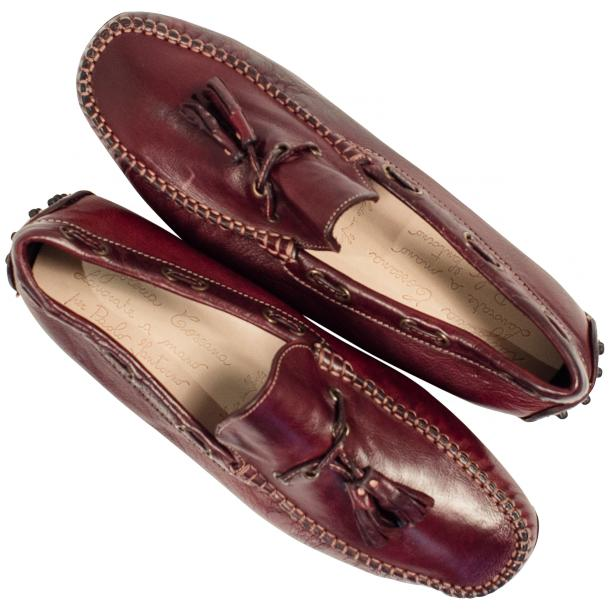 Blake Oxblood Dip Dyed Rubber Pebble Drivers Loafers  full-size #2