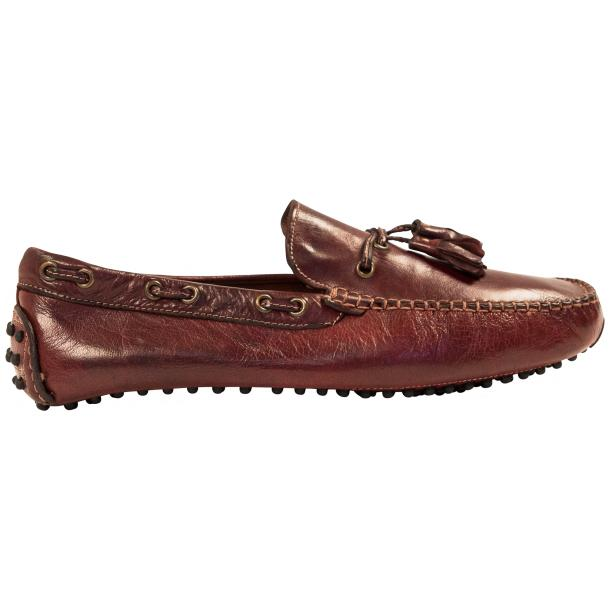 Blake Oxblood Dip Dyed Rubber Pebble Drivers Loafers  thumb #4