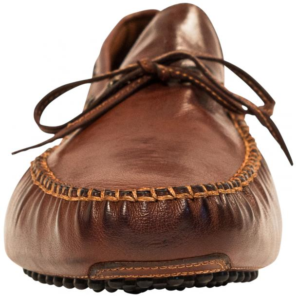 Adam Dip Dyed Brick Brown Nappa Leather Drivers thumb #3