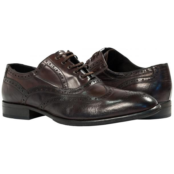 Mateo Dip Dyed Dark Brown Nappa Leather Oxfords thumb #1