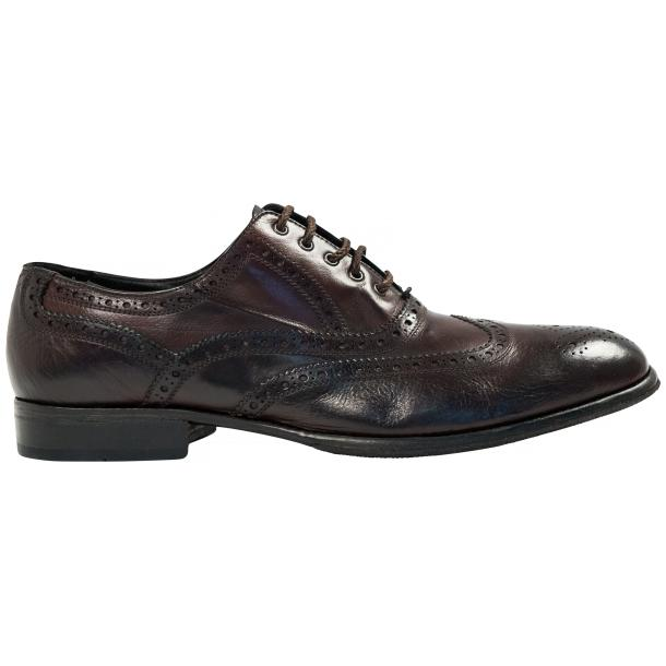 Mateo Dip Dyed Dark Brown Nappa Leather Oxfords thumb #4