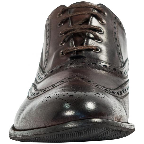 Mateo Dip Dyed Dark Brown Nappa Leather Oxfords full-size #3