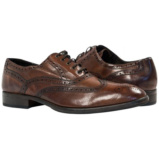 Mateo Dip Dyed Brown Moor Nappa Leather Oxfords thumb #1