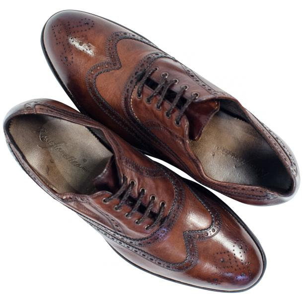 Mateo Dip Dyed Brown Moor Nappa Leather Oxfords thumb #2